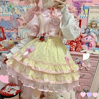 Angelic Pretty - 【未開封】ロリータ 水玉スカート イエロー