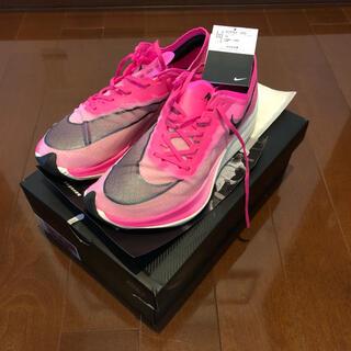 ナイキ(NIKE)のナイキ ズームX ヴェイパーフライNEXT% ピンク 走行4キロ美品 27cm(シューズ)