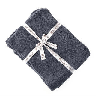 カシウエア(kashwere)のカシウエア Kashwere ブランケット 無地 ブラウン ノーマルサイズ 2個(毛布)