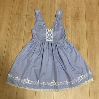 アクシーズファム(axes femme)のaxes femme kids  音符柄ジャンパースカート(150cm)(ワンピース)