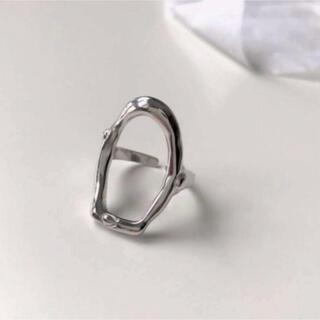 ビームス(BEAMS)の【NEW】新品インポート♡S925 シルバー オーバル スクエア 指輪 リング(リング(指輪))