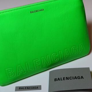 バレンシアガ(Balenciaga)の新品Balenciagaロゴ入りクラッチバッグポーチラージレザーバレンシアガ(セカンドバッグ/クラッチバッグ)