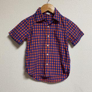GAP - GAP ギャップ 半袖シャツ チェックシャツ  100