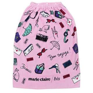 マリクレール(Marie Claire)のマリクレール ラップタオル 80cm丈 巻き巻きタオル(タオル/バス用品)