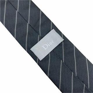 ディオールオム(DIOR HOMME)のDior homme ディオールオム ネクタイ ナロータイ ストライプ 黒 CD(ネクタイ)