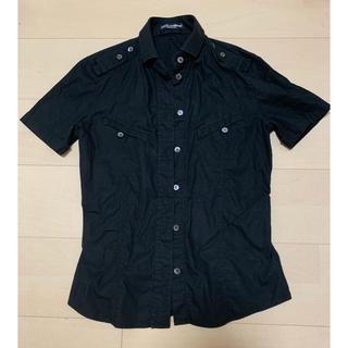 ドルチェアンドガッバーナ(DOLCE&GABBANA)のドルガバ 半袖シャツ ブラック(シャツ/ブラウス(半袖/袖なし))
