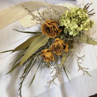 薔薇とアナベル紫陽花のスワッグ♡ドライフラワースワッグ(ドライフラワー)