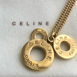 セリーヌ(celine)のCELINE ❤️✨ サークルロゴ ヴィンテージ ネックレス(ネックレス)