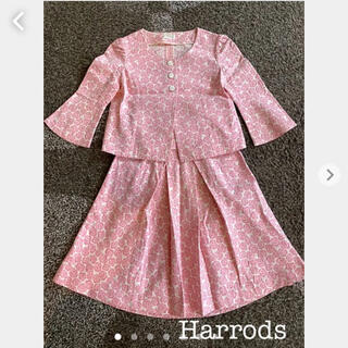 ハロッズ(Harrods)のHarrods ハロッズ ピンク バラ 柄 薔薇 スカート スーツ セットアップ(スーツ)