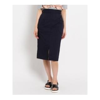 エージーバイアクアガール(AG by aquagirl)のフロントスリットタイトスカート ネイビー(ひざ丈スカート)