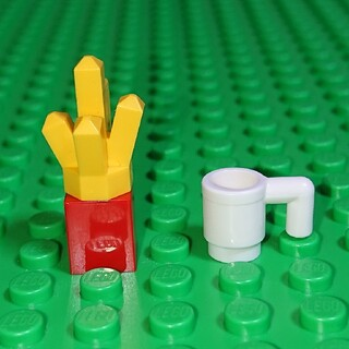 【新品】LEGO ポテト&ドリンク レゴ ミニフィグアイテム