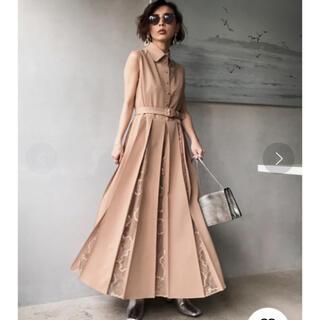 アメリヴィンテージ(Ameri VINTAGE)のlady alternately dress 紙タグつき(ロングドレス)
