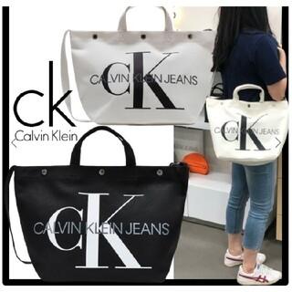 カルバンクライン(Calvin Klein)の★Calvin Klein★キャンバスボタン スモール トートバッグ(ショルダーバッグ)