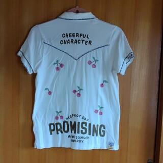 ラフ(rough)のラフのさくらんぼの刺繍が可愛いTシャツ(Tシャツ(半袖/袖なし))