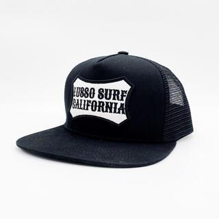 スタンダードカリフォルニア(STANDARD CALIFORNIA)のサーフ系☆LUSSO SURF ボックスロゴ刺繍キャップ☆帽子 ブラック(キャップ)