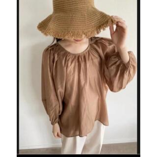 カスタネ(Kastane)のミュゲ sheer volume relax blouse(シャツ/ブラウス(長袖/七分))