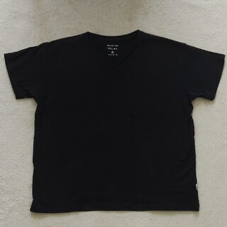コーエン(coen)のVネック黒Tシャツ(Tシャツ(半袖/袖なし))