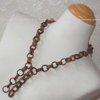 カワイイ(cawaii)の未使用★ナチュラル素材の輪っかがキュートなオーガニックなネックレス(ネックレス)