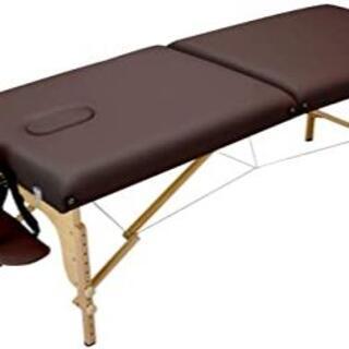 折りたたみ マッサージベッド V-004 木製 有孔 ブラウン キャリーバッグ