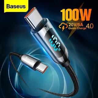 Baseus 100W LED ワット ディスプレイ ケーブル 急速 充電(その他)