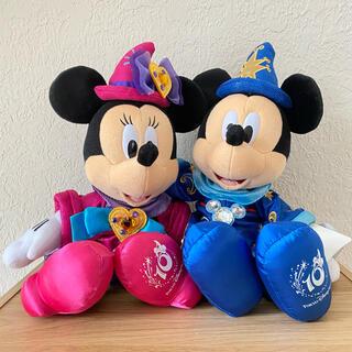 ディズニー(Disney)の【ディズニーシー10周年】ミッキー ミニー ぬいぐるみ(キャラクターグッズ)