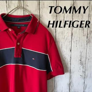 TOMMY HILFIGER ポロシャツ レッド 半袖 古着