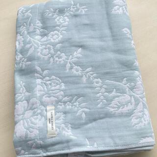 ローラアシュレイ(LAURA ASHLEY)の[ハーフサイズ]ジャカード織りタオルケット ダックエッグカラー(タオルケット)