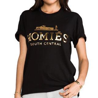 スナイデル(snidel)のSALE💜HOMIES Tシャツ Mサイズ ブラック ホーミーズ エルメス(Tシャツ(半袖/袖なし))