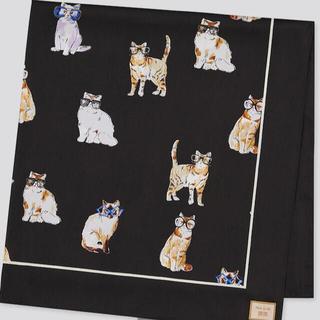 ユニクロ(UNIQLO)の新品タグ付 uniqlo  PAUL&JOE  スカーフ 猫 メガネ(バンダナ/スカーフ)