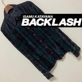 イサムカタヤマバックラッシュ(ISAMUKATAYAMA BACKLASH)のISAMU KATAYAMA BACKLASH◆グラデーションベロアレザーシャツ(シャツ)