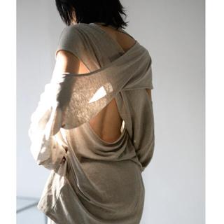 ステュディオス(STUDIOUS)のerikokatori backless line T-shirts(Tシャツ(長袖/七分))