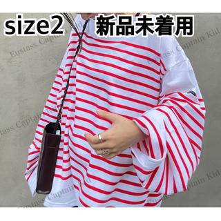 コモリ(COMOLI)の新品未着用タグ付 OUTILバスクシャツ TRICOT AAST ウティ(カットソー(長袖/七分))