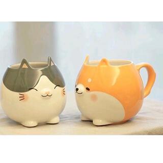 スターバックスコーヒー(Starbucks Coffee)の台湾 スターバックス オンライン限定 マグカップ 柴犬 猫 セット(グラス/カップ)