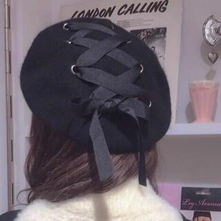 編み上げキュートベレー帽レースアップ ロリータ(衣装一式)