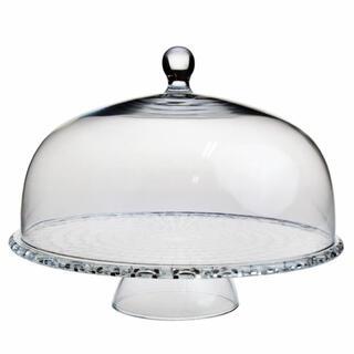 Nachtmann - ナハトマンボサノバケーキプレート&ケーキドームセット99528クリスタルガラス製
