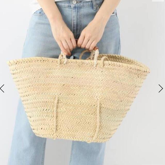 IENA(イエナ)の IENA  LA BOUCLE ダザドーム 革クロスステッチ カゴバッグ レディースのバッグ(かごバッグ/ストローバッグ)の商品写真