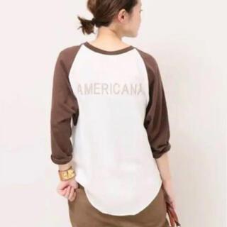 アメリカーナ(AMERICANA)のAmericana ベースボールTシャツ(Tシャツ(長袖/七分))