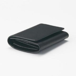ムジルシリョウヒン(MUJI (無印良品))の無印良品 イタリア産ヌメ革 三つ折り財布 ブラック(折り財布)