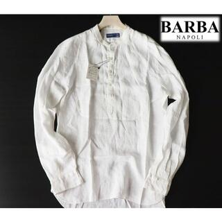 バルバ(BARBA)の新品訳【バルバ】DANDY LIFE 麻100% リネンカブリシャツ 白 42(シャツ)