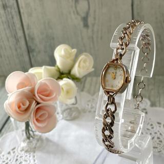 アガット(agete)の【希少】agete アガット 腕時計 シェル アンティーク調 0.005ct(腕時計)