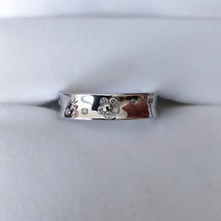 ポンテヴェキオ(PonteVecchio)のポンテヴェキオ ダイヤモンド フラワー リング Pt900 0.20ct(リング(指輪))