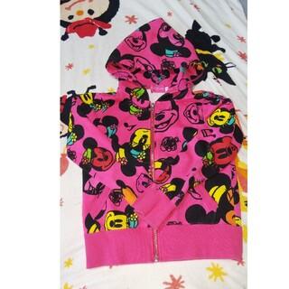 ディズニー(Disney)の美品 ディズニー ミニー ジップ パーカー 130 ディズニーリゾート(ジャケット/上着)