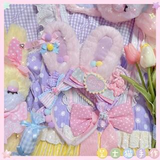 Angelic Pretty - ロリータ リリカル うさぎカチューシャ ピックxパープル