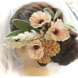 ヘアーパーツ 髪飾り ヘッドパーツ ウエディング小物  造花 ヘアーアクセサリー(その他)