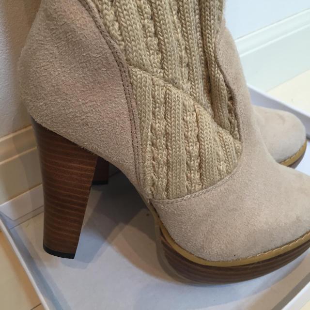 夢展望(ユメテンボウ)のベージュ♡キャメル♡ニットブーツ♡ レディースの靴/シューズ(ブーツ)の商品写真