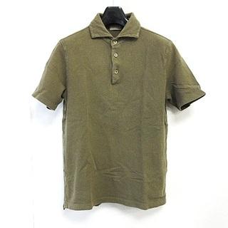 クルチアーニ(Cruciani)のクルチアーニ cruciani ポロシャツ 半袖 鹿の子 カーキ 46(ポロシャツ)