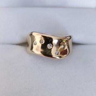 セイコー(SEIKO)のSEIKO セイコー ダイヤモンド ドッツ リング K18YG 4.6g(リング(指輪))