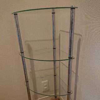 ガラス製三角棚 4段(棚/ラック/タンス)
