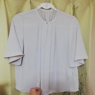 エヌナチュラルビューティーベーシック(N.Natural beauty basic)のフロントタック半袖ブラウス Sサイズ(シャツ/ブラウス(半袖/袖なし))