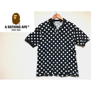 アベイシングエイプ(A BATHING APE)の【希少】 A BATHING APE 水玉 ポロシャツ M(ポロシャツ)